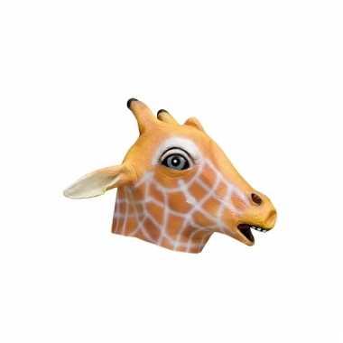 Latex dieren masker giraffe