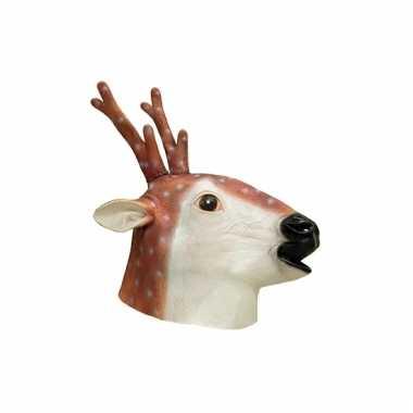 Latex dieren masker hert