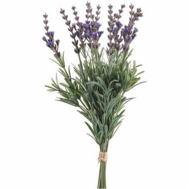 Lavendel kunstbloemen bundel 12 stuks 33 cm