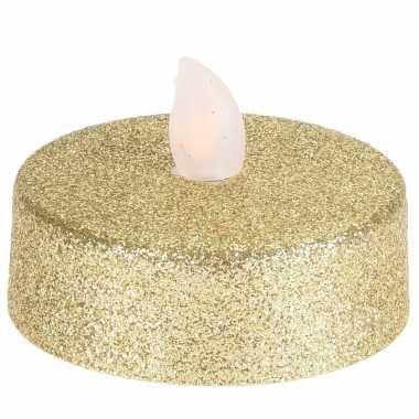 Led gouden kerst kaarsjes 2 stuks xl-formaat
