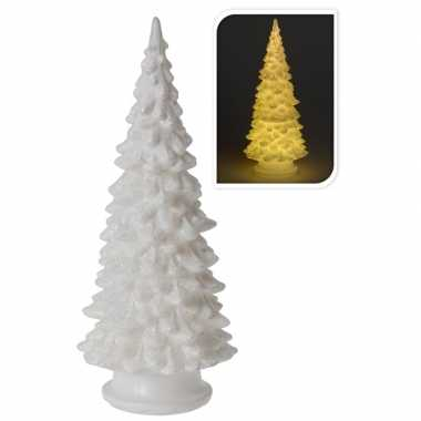 Led kerstboom beeldje met glitters 20 cm