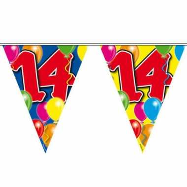 Leeftijd vlaggenlijnen 14 jaar