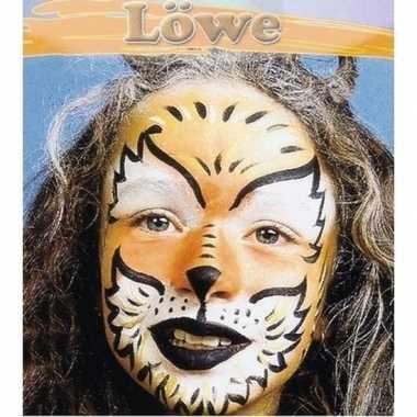Leeuw make-up schminkset 6-delig
