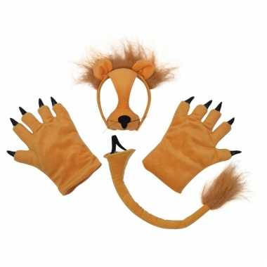 Leeuwen setje met masker pluche