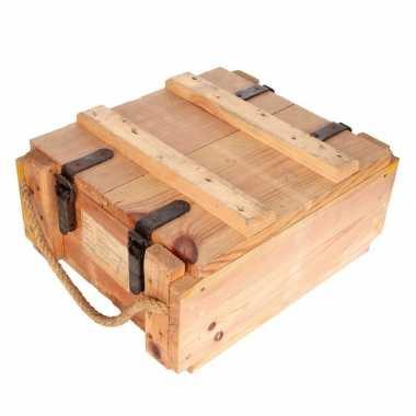 Leger kist van hout 44 x 35 x 20 cm
