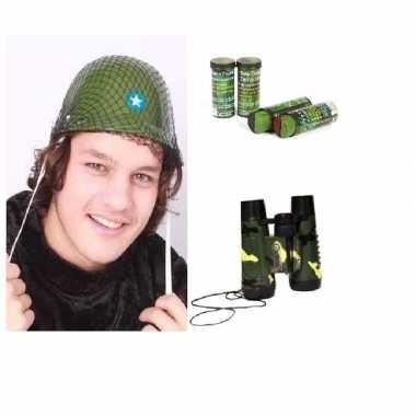 Leger verkleedsetje camouflage voor kids