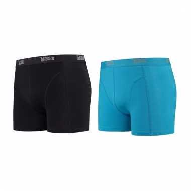 Lemon and soda mannen boxers 1x zwart 1x blauw s