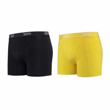 Lemon and soda mannen boxers 1x zwart 1x geel 2xl