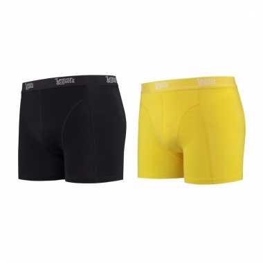 Lemon and soda mannen boxers 1x zwart 1x geel l