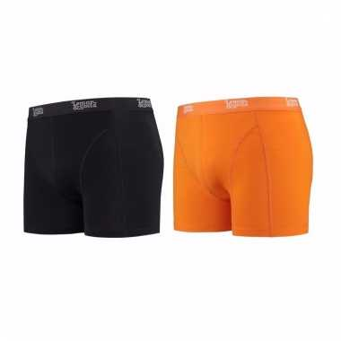 Lemon and soda mannen boxers 1x zwart 1x oranje s