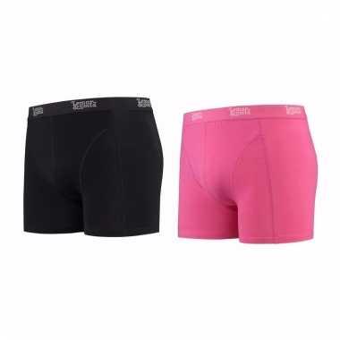 Lemon and soda mannen boxers 1x zwart 1x roze 2xl
