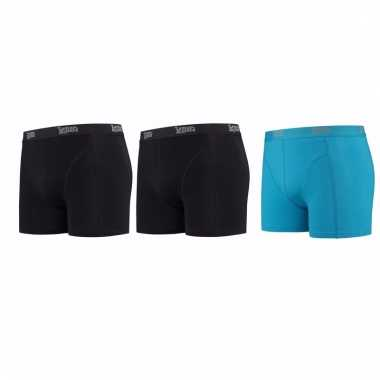 Lemon and soda mannen boxers 2x zwart 1x blauw m
