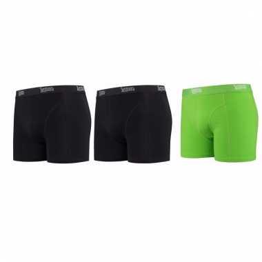 Lemon and soda mannen boxers 2x zwart 1x groen xl