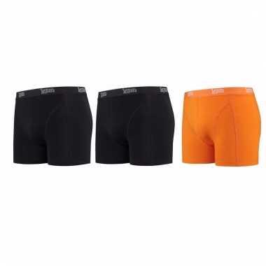 Lemon and soda mannen boxers 2x zwart 1x oranje l