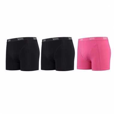 Lemon and soda mannen boxers 2x zwart 1x roze s