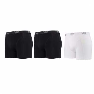 Lemon and soda mannen boxers 2x zwart 1x wit xl
