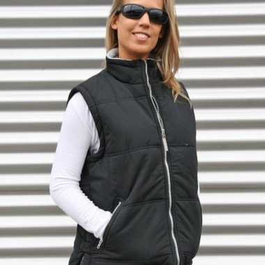 Lemon en soda zwarte dames bodywarmer