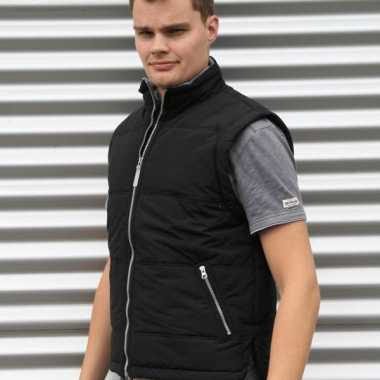 Lemon en soda zwarte heren bodywarmer