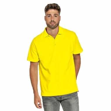 Lemon & soda polo geel voor heren