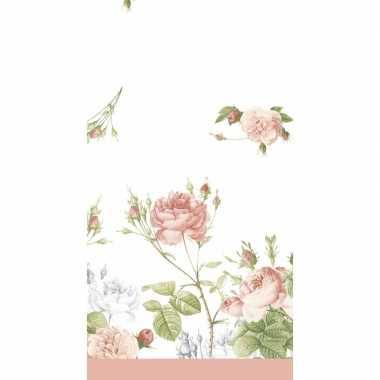 Lente/voorjaar bloemenprint tafelkleed/tafellaken pioenroosjes 138 x
