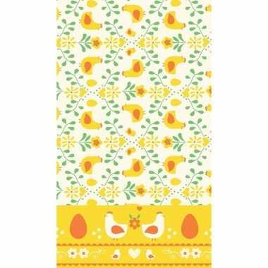 Lente/voorjaar thema tafelkleed geel/oranje 138 x 220 cm