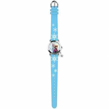 Leren klokkijken blauwe analoge frozen horloges voor kinderen/meisjes