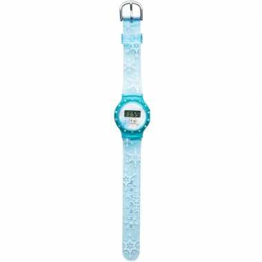 Leren klokkijken blauwe digitale frozen horloges voor kinderen/meisje