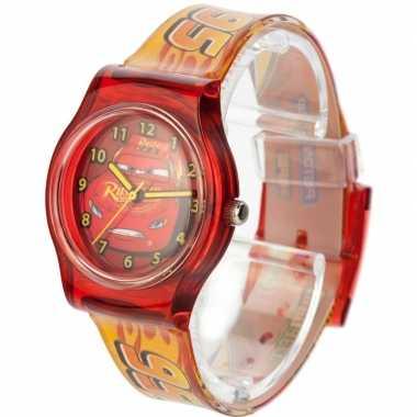 Leren klokkijken rode analoge cars horloges voor kinderen/jongens