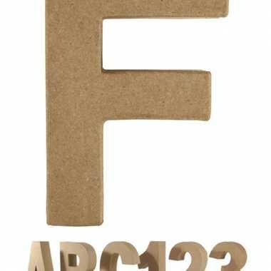 Letter f van papier mache voor decoratie