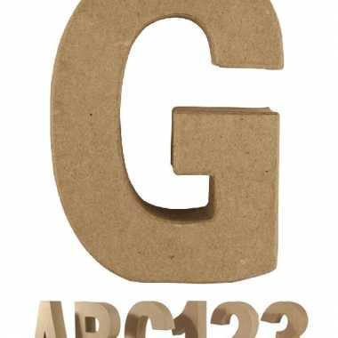 Letter g van papier mache voor decoratie