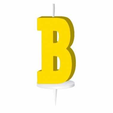 Letter kaarsen geel b