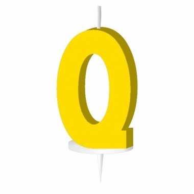 Letter kaarsen geel q