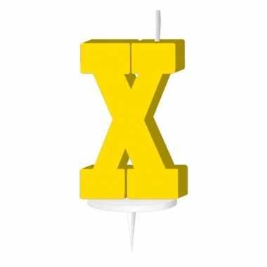 Letter kaarsen geel x