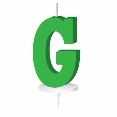Letter kaarsen groen g