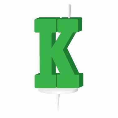 Letter kaarsen groen k