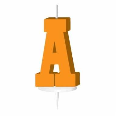 Letter kaarsen oranje a