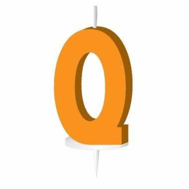 Letter kaarsen oranje q