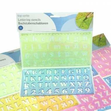 Lettersjabloon cijfers en letters