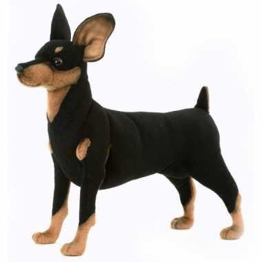 Levensechte pluche pincher hond 43 cm