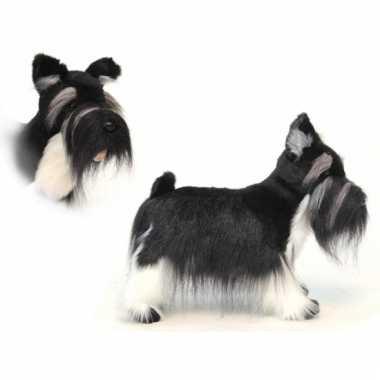 Levensechte pluche schnauzer hond 45 cm