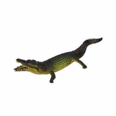 Levensechte speelgoed plastic krokodil 30 cm