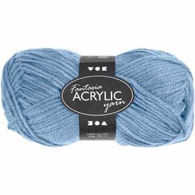 Licht blauw acryl 3-draads garen 80 meter