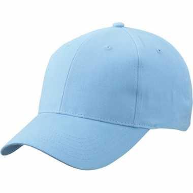 Licht blauwe baseball cap van katoen