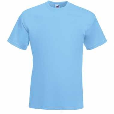Licht blauwe t-shirts met korte mouwen voor heren