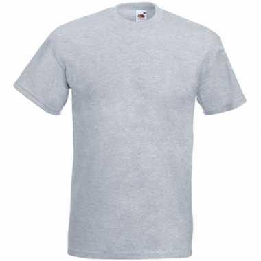 Licht grijze t-shirts met korte mouwen voor heren