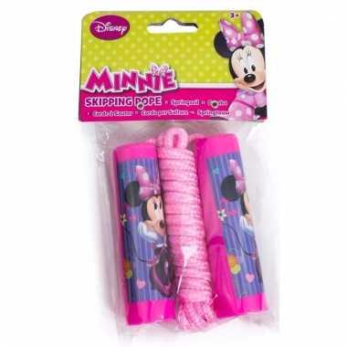 Licht roze springtouw van minnie mouse