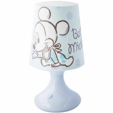 Lichtblauw disney mickey/donald lampje/nachtlampje voor kinderen
