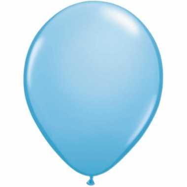 Lichtblauwe ballonnen 50 stuks