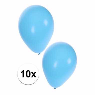 Lichtblauwe kraamfeest ballonnen 10x
