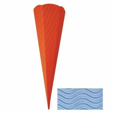 Lichtblauwe schoolzak 68 cm